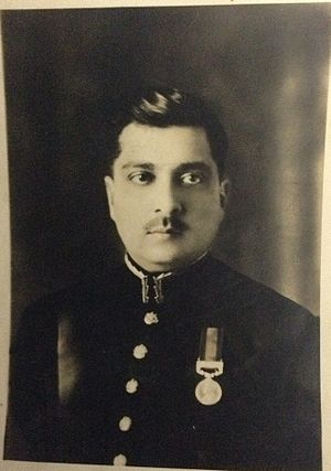 Iskander Mirza - Iskander Mirza as 2nd Lt in British Indian Army, ca.1920.