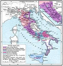 Questa cartina mostra la Contea di Aversa subito a nord di Napoli