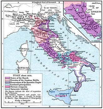 Matilda of Tuscany - The states of the Apennine Peninsula in the second half of the 11th century