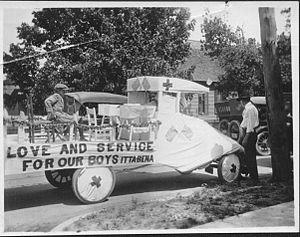 Itta Bena, Mississippi - WW I parade float