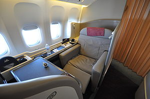 Japan Airlines international flight first-clas...