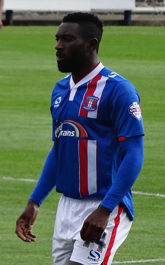 Jabo Ibehre - Ibehre playing for Carlisle United in 2015