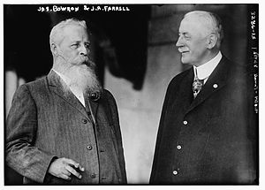 James A. Farrell - James Augustine Farrell (right) with James Bowron in 1914