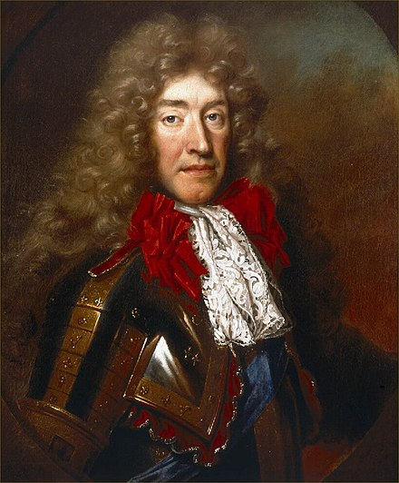Mary's father, James II and VII, was the last Catholic monarch in Britain. Portrait by Nicolas de Largilliere, c 1686. James II 1633-1701.jpg