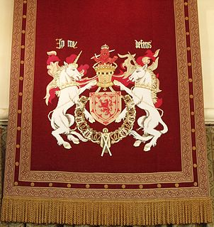 motto of both the Royal coat of arms of the Kingdom of Scotland and Royal coat of arms of the United Kingdom used in Scotland