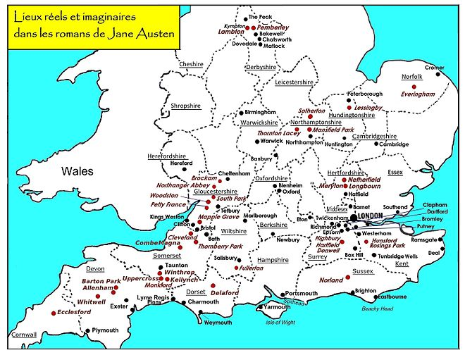 Carte De Langleterre Ville.Univers De Jane Austen Wikipedia