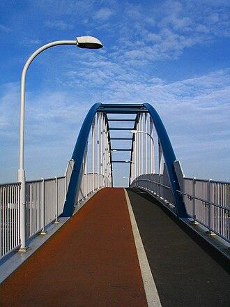 Milton, Cambridgeshire - Image: Jane Coston cycle bridge deck