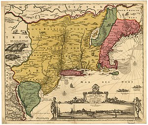 Adriaen van der Donck - The Jansson-Visscher map of the American Northeast first published by van der Donck