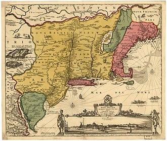 Adriaen van der Donck - The Jansson-Visscher map of the American Northeast first published by van der Donck