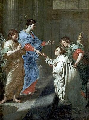 Jean-Guillaume Carlier - Image: Jean Guillaume Carlier, Mariage mystique de saint Hermann Joseph de Steinfeld