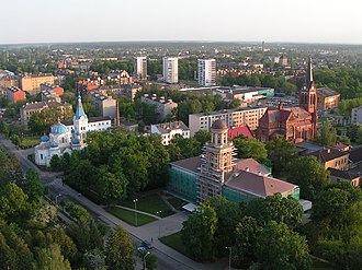 Jelgava - Aerial view of Jelgava