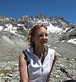 Jemma Wadham and the Bouquetins Ridge, above the Haut Glacier d'Arolla where she started her glaciological studies in 1993.jpg