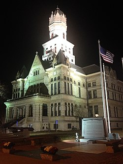 Jersey County Courthouse, downtown