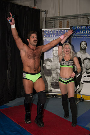 Candice LeRae - LeRae alongside Joey Ryan as The World's Cutest Tag Team in November 2014