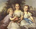 Johann Grund - Bildnisse dreier kleiner Mädchen 1858.jpg