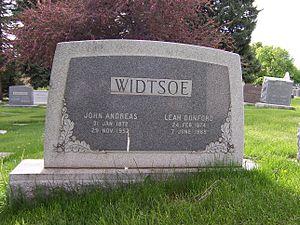 John A. Widtsoe - Grave marker of John A. Widtsoe.