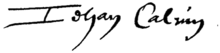Unterschrift Johannes Calvin