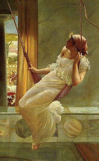 John Reinhard Weguelin - The Swing, 1893.