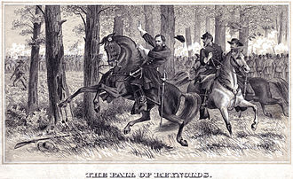 "John F. Reynolds - ""The Fall of Reynolds"" – drawing of Reynolds' death at Gettysburg"