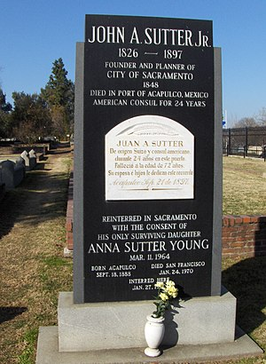 John Augustus Sutter Jr. - Grave of John A. Sutter Jr.