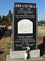 John Sutter Jr. marker Sacramento, CA Old City Cemetery.jpg