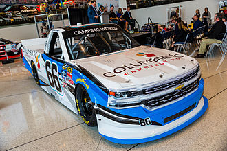 Jordan Anderson (racing driver) - Anderson's No. 66 Truck at the NASCAR Hall of Fame