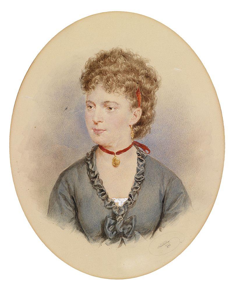 Josef Kriehuber Bildnis einer jungen Frau (Tochter Nestroy).jpg