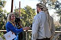 Joseph Brandt, supervisory wildlife biologist with U.S. Fish and Wildlife Service, talks about the launch of Condor Country with KEYT reporter Kelsey Gerckens (30481402101).jpg