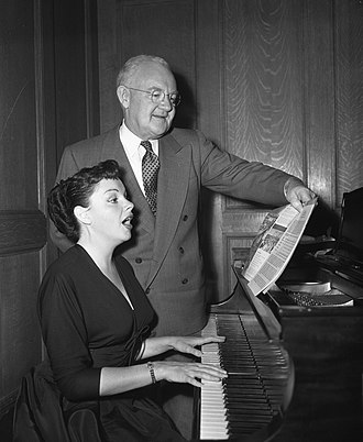 Fletcher Bowron - With Judy Garland at piano. Proclamation of Music Week, 1952