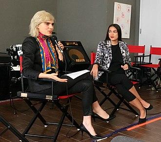Alexandria Ocasio-Cortez - Ocasio-Cortez during an interview with Julia Cumming in December 2017