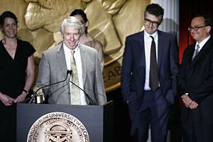 Jack Hitt - Julie Snyder, Jack Hitt, Ira Glass and Torey Malatia accept the Peabody Award, June 2007