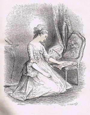 Deutsch: Julie liest einen Brief von St. Preux