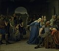 Julius Exner - The Danish Queen Thyra Danebod Trying to Soften the Heart of her Husband, Gorm the Old, towards some Christian Captives - KMS582 - Statens Museum for Kunst.jpg