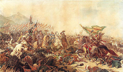 Sobieski at Vienna by Juliusz Kossak. - Battle of Vienna