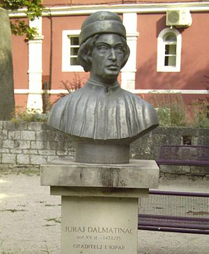 Giorgio da Sebenico -  Juraj Dalmatinac (George the Dalmatian) monument in Zadar
