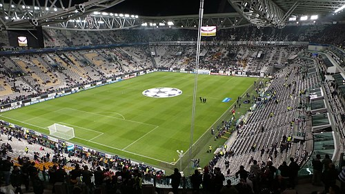 The Juventus Stadium in Turin is the home of Juventus F.C., throughout the years one of the more successful Serie A clubs. Juventus v Real Madrid, Champions League, Stadium, Turin, 2013.jpg