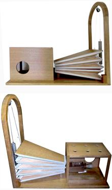 Replik der Sprechmaschine am Leibniz-Institut für Deutsche Sprache, Mannheim. (Quelle: Wikimedia)