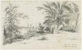 KITLV - 36C195 - Borret, Arnoldus - Leper asylum (Batavia) on the Coppename River, Surinam - Pencil - 1878-09-03.tif