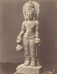 KITLV 87710 - Isidore van Kinsbergen - Sculpture of Shiva from the Dijeng plateau - Before 1900.tif