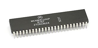 Freescale 68HC11 - Motorola MC68HC11 in a 48-pin dual in-line package (DIP)