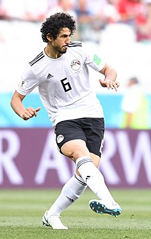 c67b96ae2 Ahmed Hegazi (footballer) - Hegazi playing for Egypt at the 2018 World Cup