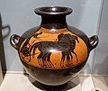 Kalpis with four-horse chariot, attributed to the Rycroft Painter, c. 520 BC, terracotta - Middlebury College Museum of Art - Middlebury, VT - DSC07965.jpg
