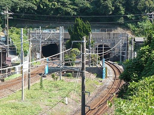 Kammon railway tunnel Shimonoseki portal