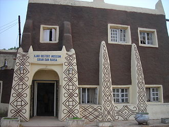 Kano - Kano History Museum constructed in the distinctive Hausa architectural style.