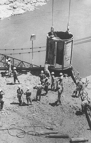 Kariba Dam - Image: Kariba Dam Construction