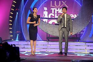 UTV Stars - Karisma Kapoor and Vishal Malhotra on an episode of the UTV Stars' show Lux The Chosen One.