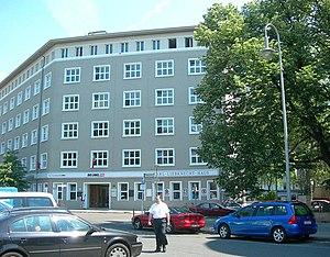 Rosa-Luxemburg-Platz - Karl-Liebknecht-Haus, headquarters of the German Left Party in 2007