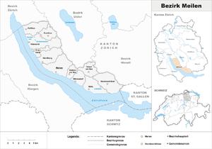 Meilen District - Image: Karte Bezirk Meilen 2007