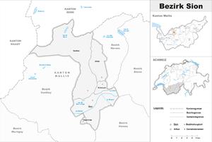 Sion District - Image: Karte Bezirk Sion 2017