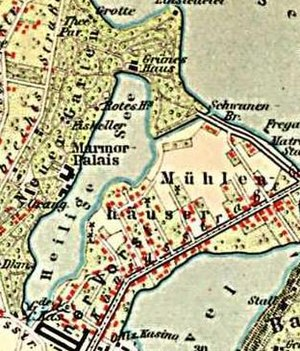 Marmorpalais - Image: Karte Heiliger See